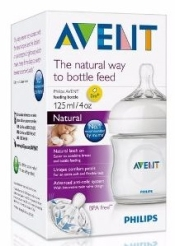 AVENT BIBERON NATURAL TRANSPARENTE 125 ML