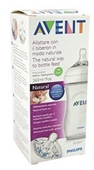 AVENT BIBERON NATURAL TRANSPARENTE 260 ML