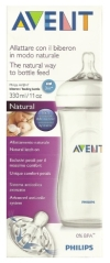 AVENT BIBERON NATURAL TRANSPARENTE 330 ML
