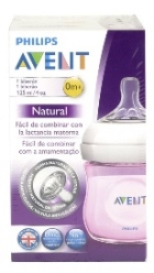 AVENT BIBERON NATURAL ROSA 125 ML