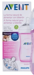 AVENT BIBERON NATURAL ROSA 260ML