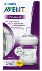 AVENT BIBERON NATURAL DE CRISTAL 120 ML