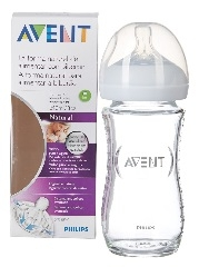 AVENT BIBERON NATURAL DE CRISTAL 240 ML