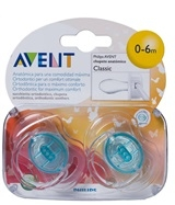 AVENT CHUPETES ORTODONTICO TRANSL  CIDOS 0 6 MESES 2 UDS