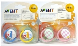 AVENT CHUPETES DECORADOS 0 6 MESES 2 UDS