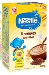 NESTLE 8 CEREALES CACAO 600 GR